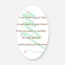 Christmas Card Oval Car Magnet