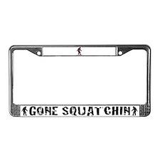 Bigfoot plaid License Plate Frame