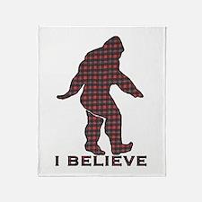 Bigfoot plaid Throw Blanket