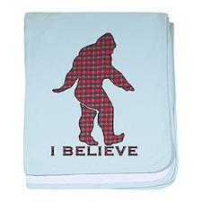 Bigfoot plaid baby blanket