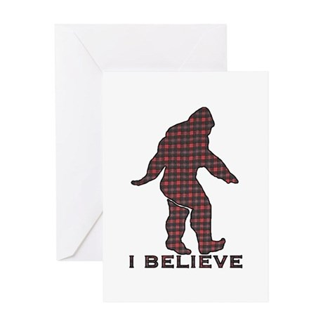 Bigfoot plaid Greeting Card