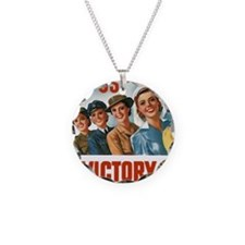 Join Us in a Victory Job Necklace Circle Charm