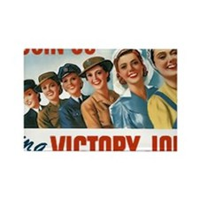 Join Us in a Victory Job Rectangle Magnet