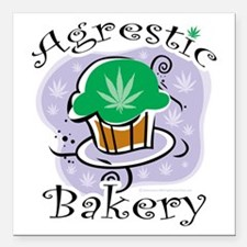 "Agrestic-Bakery Square Car Magnet 3"" x 3"""