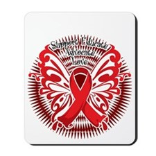 Heart-Disease-Butterfly-3-blk Mousepad