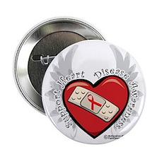"""Heart-Disease-New-Wings 2.25"""" Button"""