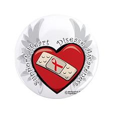 """Heart-Disease-New-Wings 3.5"""" Button"""