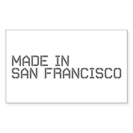 MADE IN SF Rectangle Sticker