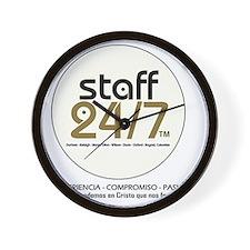 Staff 24/7 Wall Clock