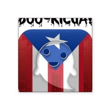 "2-BOORICUA Square Sticker 3"" x 3"""