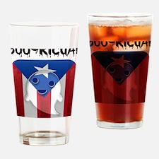 2-BOORICUA Drinking Glass