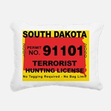 terrorist-hunting-licens Rectangular Canvas Pillow