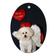 You just Gotta Love a Bichon  Oval Ornament