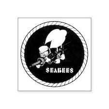 "Seabees Vintage emblam Square Sticker 3"" x 3"""