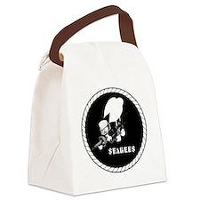 Seabees Vintage emblam Canvas Lunch Bag