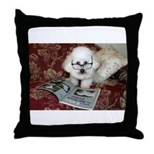 You just Gotta Love a Bichon  Throw Pillow