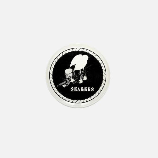 Seabees Vintage emblam Mini Button