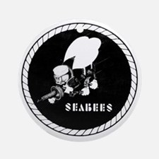 Seabees Vintage emblam Round Ornament