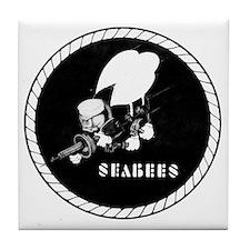 Seabees Vintage emblam Tile Coaster