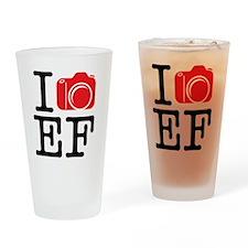 I Shoot EF (Canon) Photo Drinking Glass