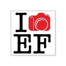 "I Shoot EF (Canon) Photo Square Sticker 3"" x 3"""