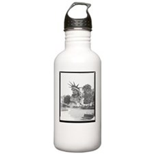 statue head dark Water Bottle