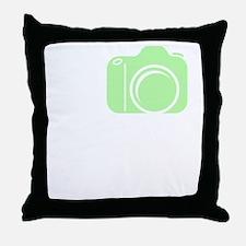 I_Shoot_EF_Green Throw Pillow