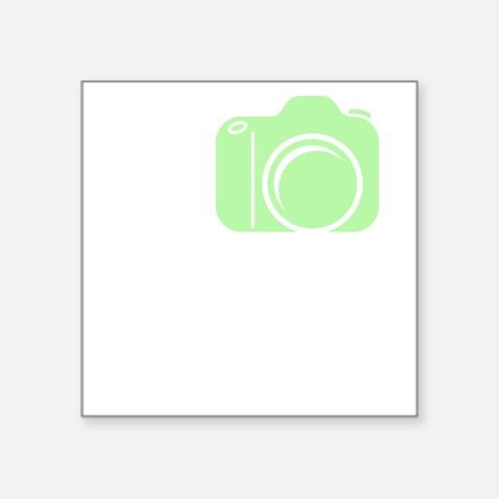 "I_Shoot_EF_Green Square Sticker 3"" x 3"""