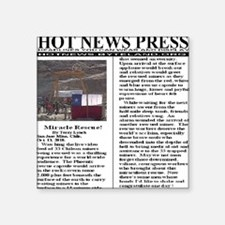 """hotnewspress_miracle_rescue Square Sticker 3"""" x 3"""""""