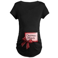 Christmas Miracle Red Maternity T-Shirt