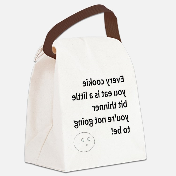 no more cookies! Canvas Lunch Bag