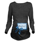 Its a boy Dark Long Sleeve Maternity T-Shirt