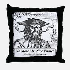Blackbeard's Stuff Throw Pillow