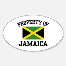 Property of Jamaica Oval Decal
