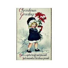 Old-Fashioned Christmas Greeting Rectangle Magnet