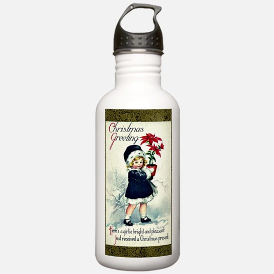Old-Fashioned Christma Water Bottle