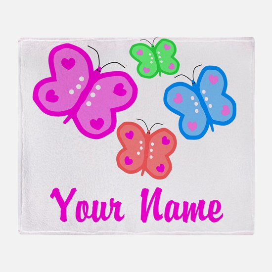 Butterflies Personalized Throw Blanket