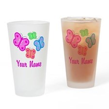 Butterflies Personalized Drinking Glass