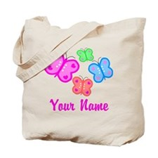 Butterflies Personalized Tote Bag