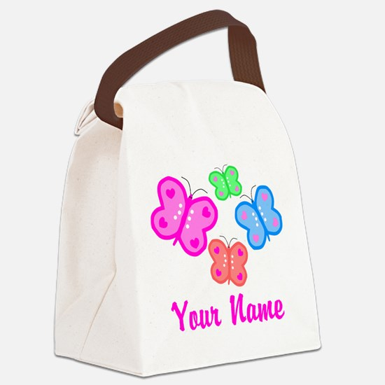 Butterflies Personalized Canvas Lunch Bag