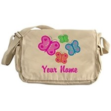 Butterflies Personalized Messenger Bag