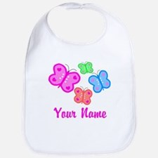 Butterflies Personalized Bib