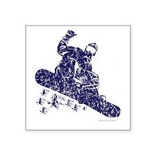 """Snow-Boarder Square Sticker 3"""" x 3"""""""