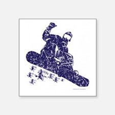 "Snow-Boarder Square Sticker 3"" x 3"""