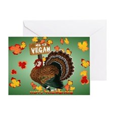 Go Vegan! Thanksgiving-Yardsign Greeting Card