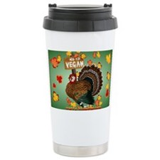 Go Vegan! Thanksgiving-Yardsign Travel Mug