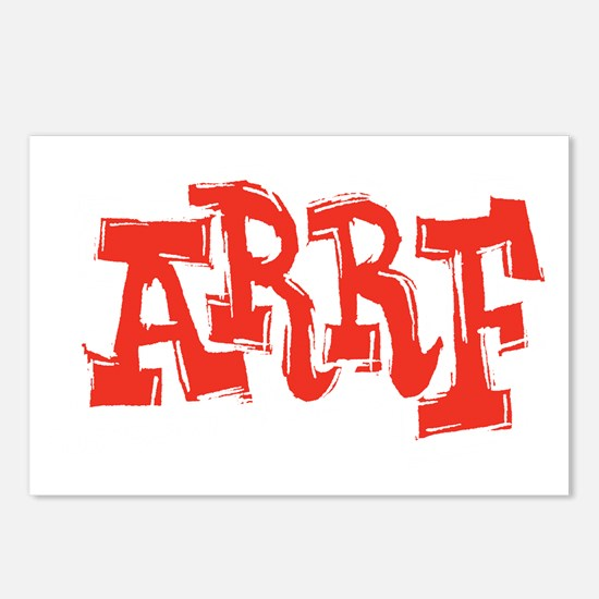 2-arrf_BW_black_shirt_12x Postcards (Package of 8)
