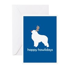 "G Pyrenees ""Happy Howlidays"" Greeting Cards (Packa"