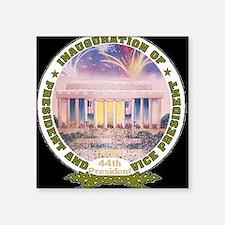 "Inaug 44th President Square Sticker 3"" x 3"""