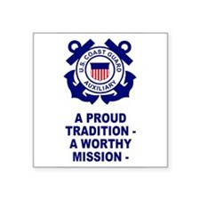 Coast Guard Auxiliary<BR> Vertical Sticker
